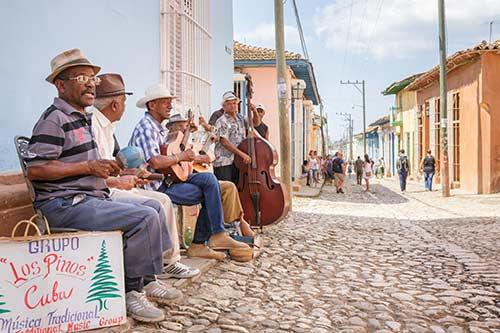 Musiciens rue La Havane