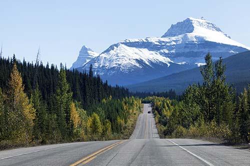 Route des glaciers Canada